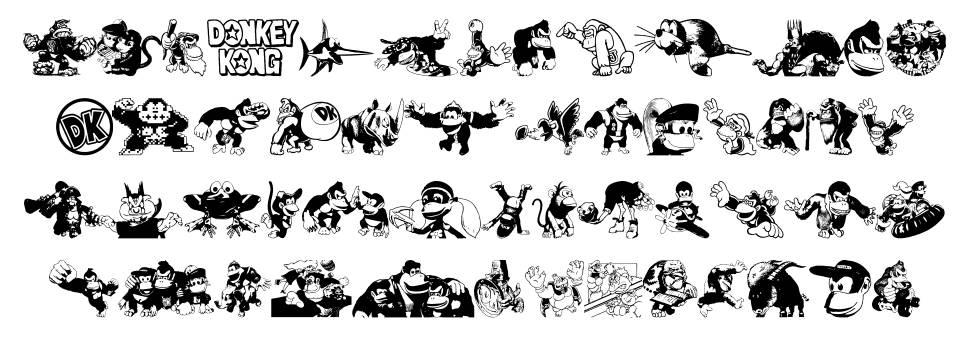 Donkey Kong World шрифт