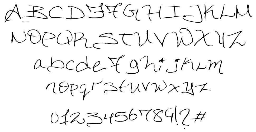 Dorkified Distortion font