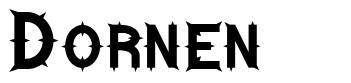 Dornen шрифт