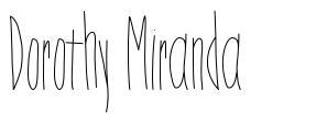 Dorothy Miranda шрифт