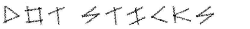 Dot Sticks font