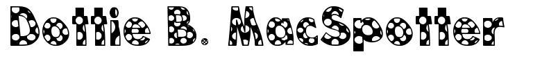 Dottie B. MacSpotter font
