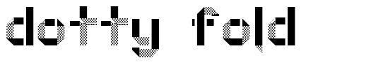 Dotty Fold font