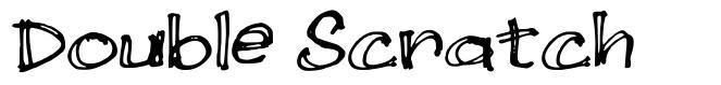 Double Scratch font