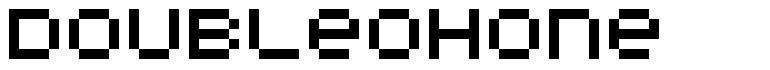 DoubleOhOne font