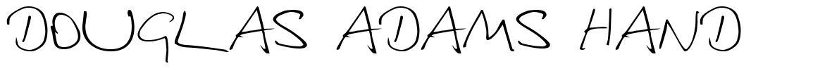 Douglas Adams Hand font