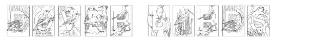 Dover Birds font