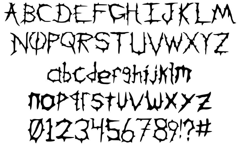 Down With The Sickness font