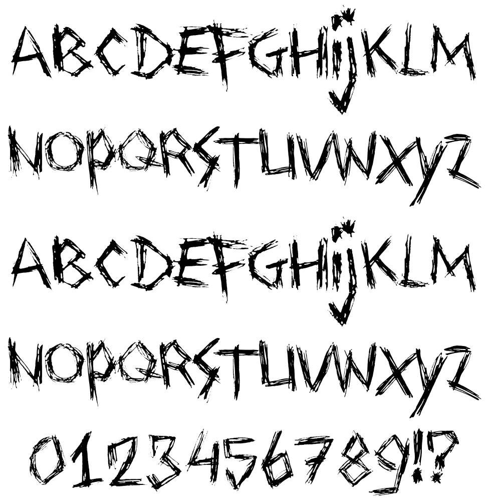 Drawing Blood font