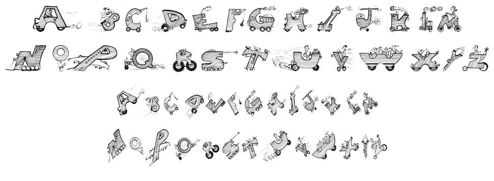 Drivers шрифт
