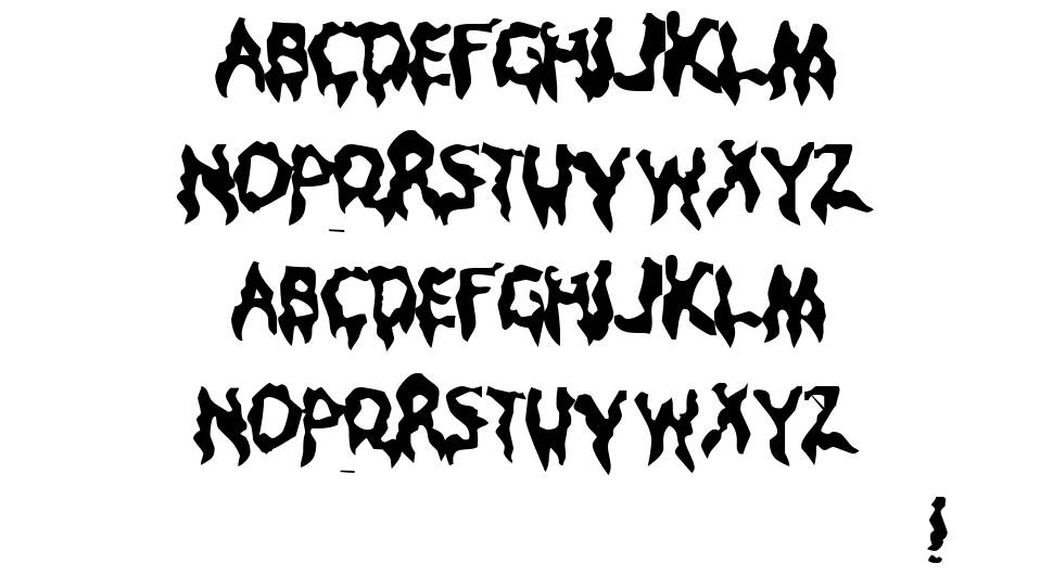 Droopy Poopy font