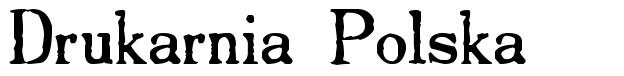 Drukarnia Polska 字形