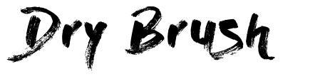 Dry Brush 字形