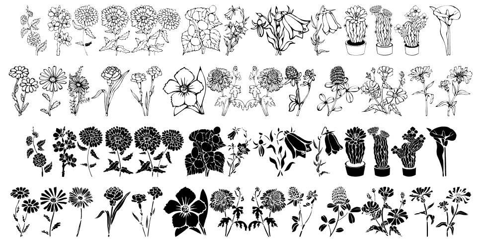 DT Flowers font