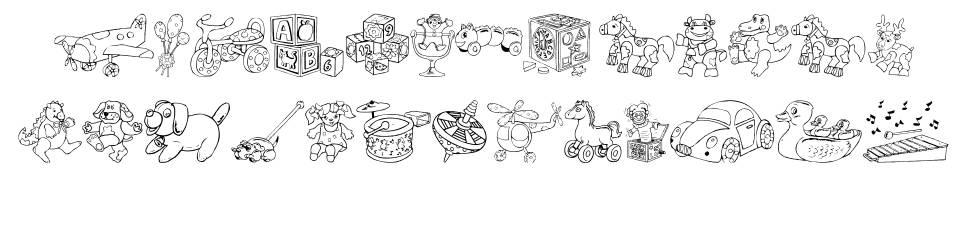 DT Rachels Toys font