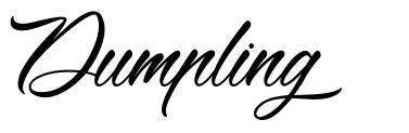 Dumpling schriftart