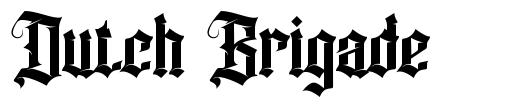 Dutch Brigade font