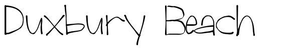 Duxbury Beach font