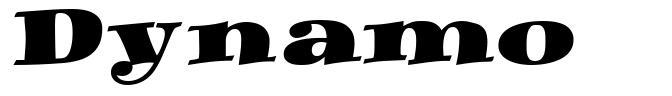 Dynamo шрифт