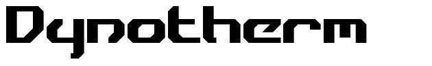 Dynotherm font
