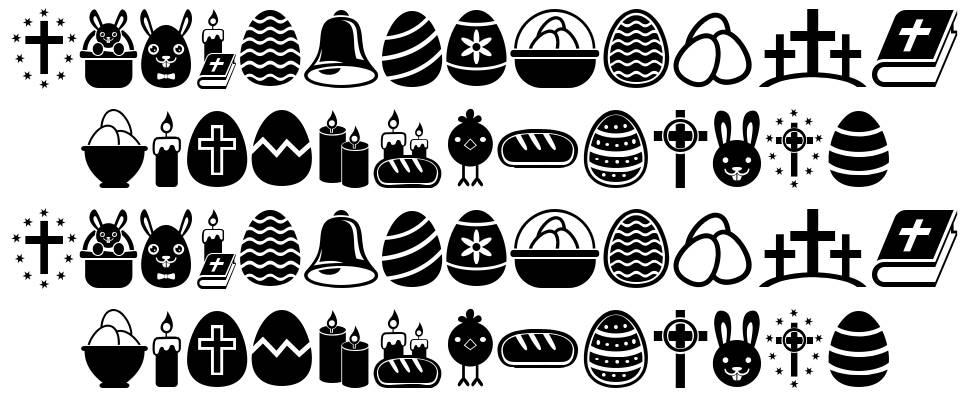 Easter Icons schriftart