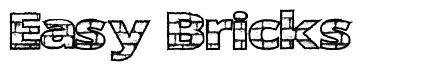Easy Bricks font