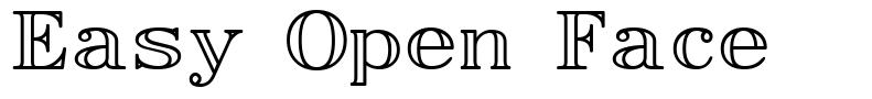 Easy Open Face font