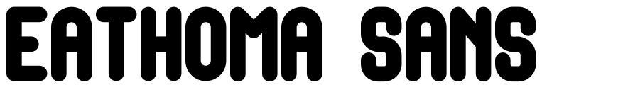 Eathoma Sans font