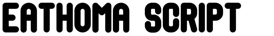Eathoma Script font