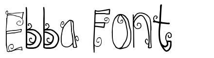 Ebba Font font