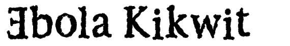 Ebola Kikwit フォント