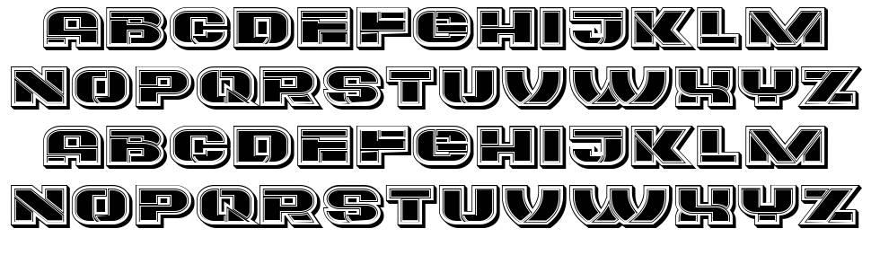 Eccentric font