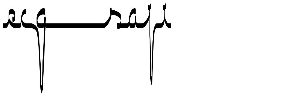 ECG Saji font