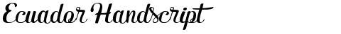Ecuador Handscript