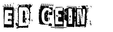 Ed Gein font