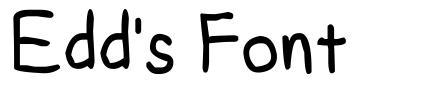 Edd's Font schriftart