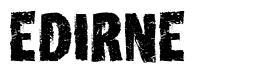 Edirne font
