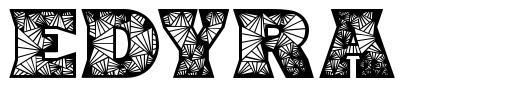 Edyra шрифт