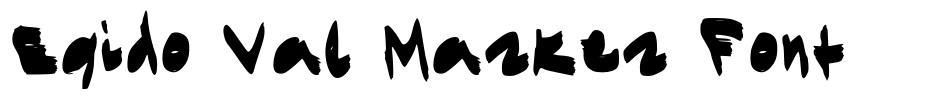 Egido Val Marker Font