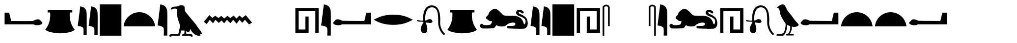 Egyptian Hieroglyphs Silhouette