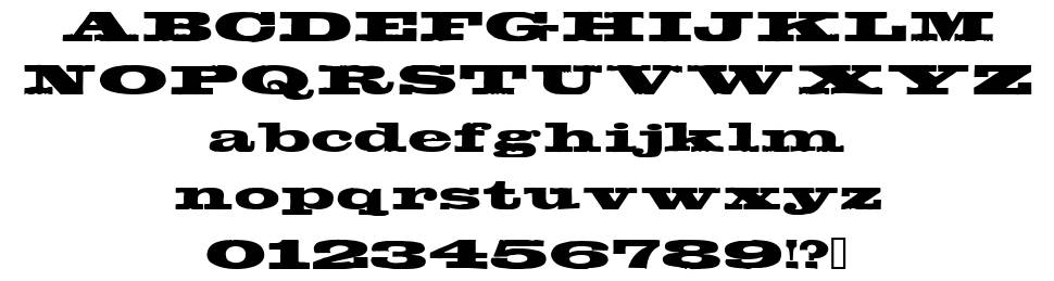 Egyptientto2 font