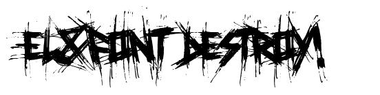 El&Font Destroy! font