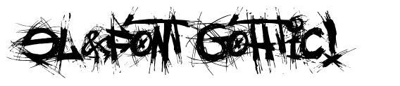 El&Font Gohtic! czcionkę