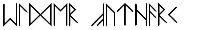 Elder Futhark font