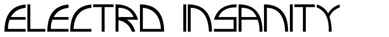 Electro Insanity font