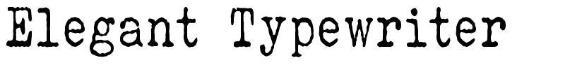Elegant Typewriter font