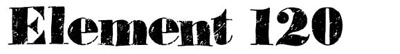 Element 120 font