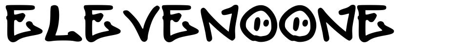 Elevenoone 字形