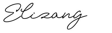 Elizany font