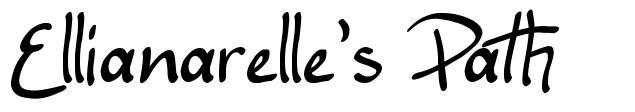 Ellianarelle's Path font